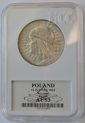 Poland 10 Zlotych 1932, Warsaw Mint, Queen Jadwiga, great condition