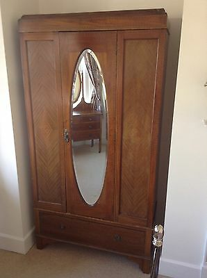 Edwardian wardrobe dressing table and chest of drawers mahogany rosewood inlays