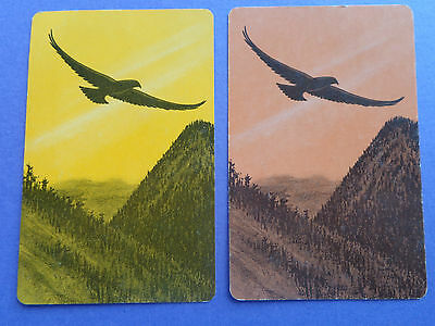 Collector ,   Pair Of Vintage Birds , Swap Playing Cards !!!!!!