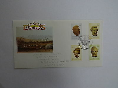 1983  Explorers of Australia first day cover