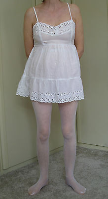Stunning! - White Fishnet Tights - one size - BNWT