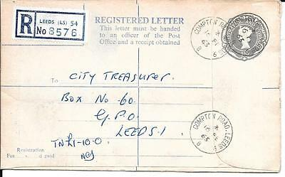 1963 Registered Letter Used Compton Road, Leeds