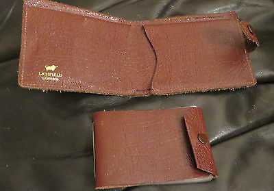 Brown Leather Wallet Detachable Card Section - Litchfield Leather