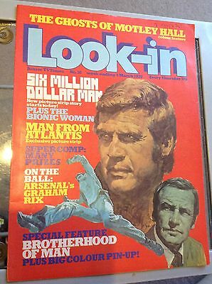 Look In Comic Number 10 1978 Six Million Dollar Man Cover