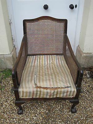 Antique Regency Bergere Library Chair for Restoration