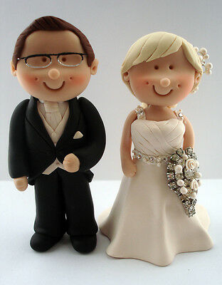 Personalised Bride and Groom Mini Wedding Cake Topper, Cake Decoration, Gift