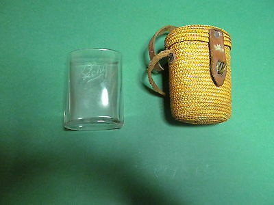 Vintage Vichy Water glass and carrier