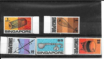 Singapore The 5 Definitives Issued in 1970 Inc High Values U/M Cat Over £55