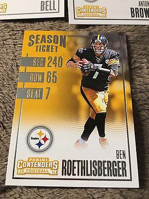 Panini Pittsburgh Steelers Set Roethlisberger Bell Brown NFL