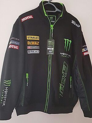 NEW WITH TAGS Tech 3 monster energy team Biker racing jacket & Beanie hat