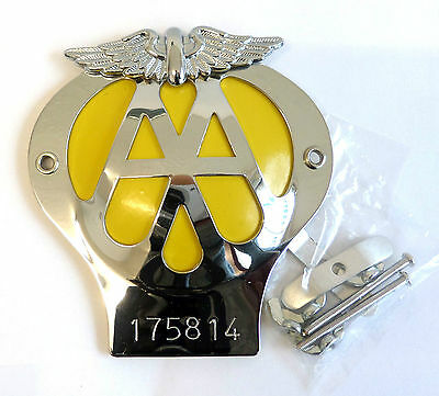 AA Metal Car Grille Badge,With Fixing Bolts