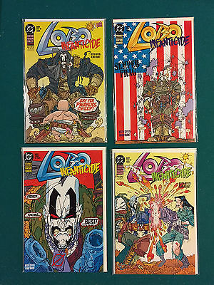 LOBO INFANTICIDE MINI SERIES 1-4 1st PRINT DC 1992  VF to NM, Closer to NM