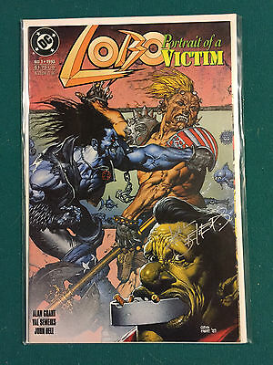 Lobo Portrait Of A Victim # 1, 1993, DC  VF to NM, Closer to NM, signed by Val