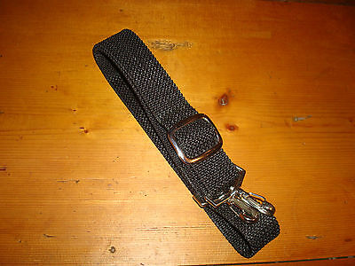 "1.5"" Wide Black All Purpose Adjustable Shoulder Strap w/Swivel Clips"