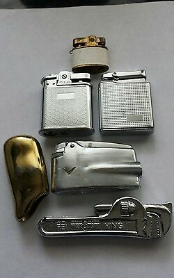 Job Lot5 Mixed Lighters  COLIBRI, ROLSTAR - Untested, plus one case