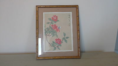 framed chinese silk, chinese silk, antique