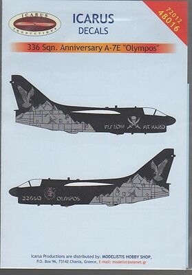 A-7E Corsair Ii Olympos Icarus Decals 72012 1/72