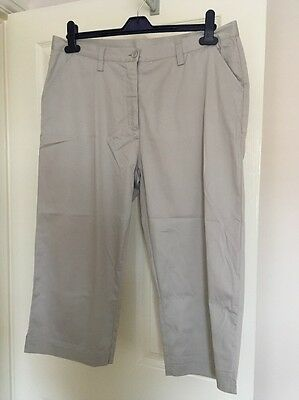 Ladies Glenmuir Stone  Cropped golf trousers Size 16