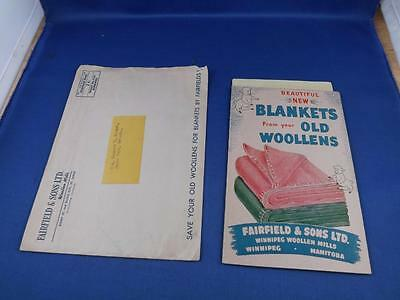 Blankets From Your Old Woollens Catalog 1952 Fairfield Sons Manitoba Order Form