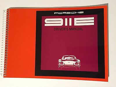 Genuine Porsche 911E 2.0 Litre Drivers Manual 1969/70