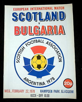 Scotland v Bulgaria  friendly     22-2-1978