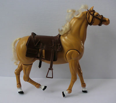 Barbie Horse Dallas 1983 Palamino Jointed Legs With Saddle, Bridle Vintage