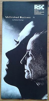 Unfinished Business programme RSC The Pit theatre 1994 Angela Vale Toby Stephens