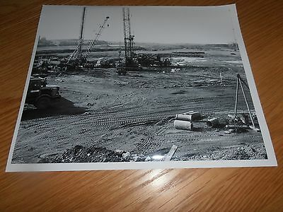 1973 Photo,No5 Sinter Strand,assembly of Piling Rigs Abbey Works,Port Talbot
