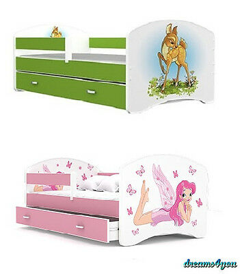 Bed for kids children 160x80 cm girl boy DRAWER FREE mattress VERY GOOD QUALITY