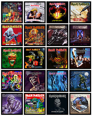 """IRON MAIDEN 20 pack of 7"""" singles discography magnets lot (set 2 of 2)"""