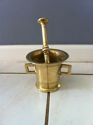 Final Sale - Antique Brass Mortar And Pestle - 100+ Years Old