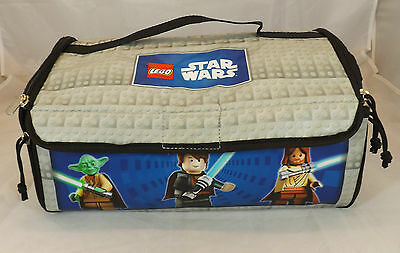 lego star wars zip up storage carry case unfolded makes play floor mat