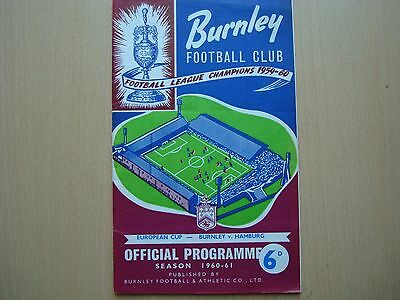 Burnley V Hamburg Jan 1961