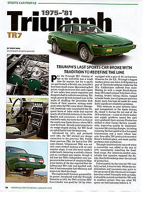 1975-1981 Triumph Tr7  ~  Great Sports Car Profile Article / Ad