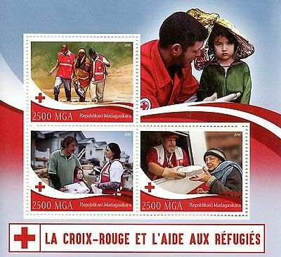 Madagascar 2016 MNH Red Cross & Aid to Refugees 3v M/S Medical Health Stamps