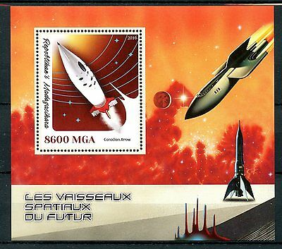 Madagascar 2016 MNH Future Spacecraft 1v S/S Canadian Arrow Space Stamps