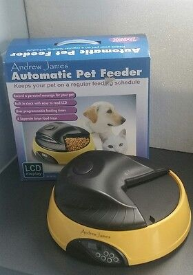 Andrew James Automatic Pet Feeder For Cat/Dog Programmable Feeding Times