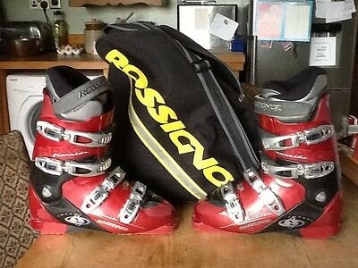Rossignol Impact Ski Boots Size 9  27.5 And Bag