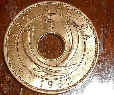 Nice British East Africa 1952 5 Unc/bu Cents Coin