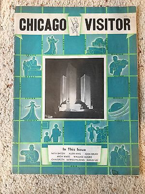 Chicago Visitor Guide 1934 Chicago Bears Article – Great Ads Fields, Palmer Hous