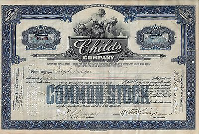 Childs Company, New York, 1925  (3 Shares)