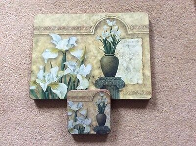 Set Of 4 Place Mats And Coasters