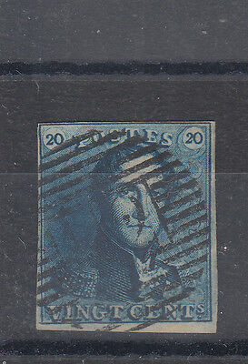 Belgium 1849 An Unusual Colour To This Superb 20c With Clear Margins SG2