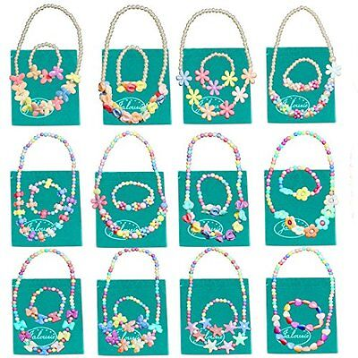 Jalousie 12 Sets Deluxe Girls Party Favor Jewelry Collections of Necklace and