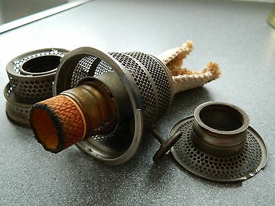 Super Aladdin oil lamp Burner, Gallery and wick carrier.