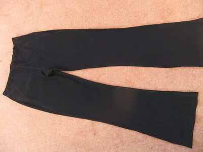 SWEATY BETTY size L black FITNESS TRACK pants trousers GYM ACTIVEWEAR WORKOUT