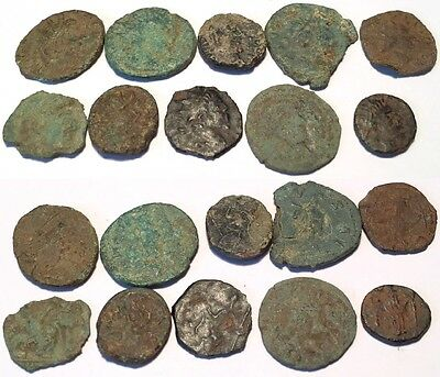 A* 10 x Nice Uncleaned Barbarous Coins From the UK.
