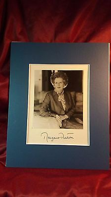 Margret Thatcher Autograph with Letter of Authenticity
