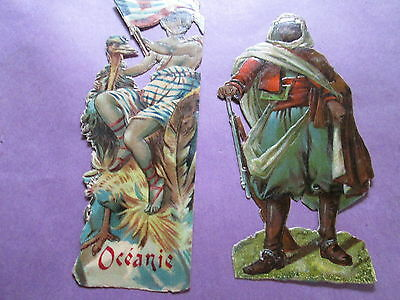 Beautiful 2 antique image-soldier and Océanie