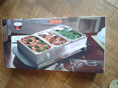 Compact Stainless Steel Buffet Warmer from Scotts of Stow